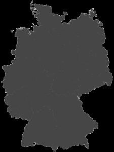 carte grise de l'Allemagne divisée par région ou Bundesländer