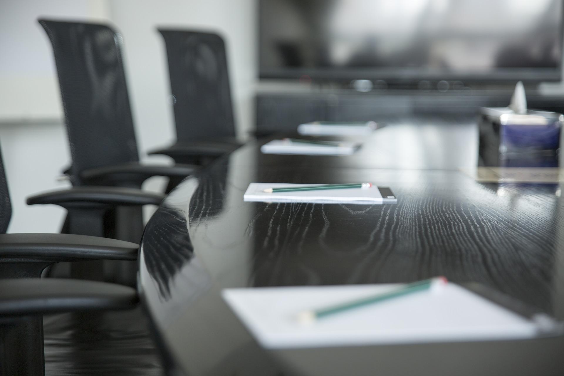 Besprechungstisch für einen Betriebsrat